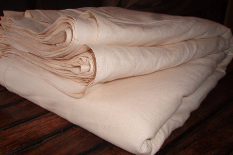 Unbleached organic cotton fabric for Produce Bags - LOOMSTATE (Produce Bag Fabric, Unbleached Dyeable)
