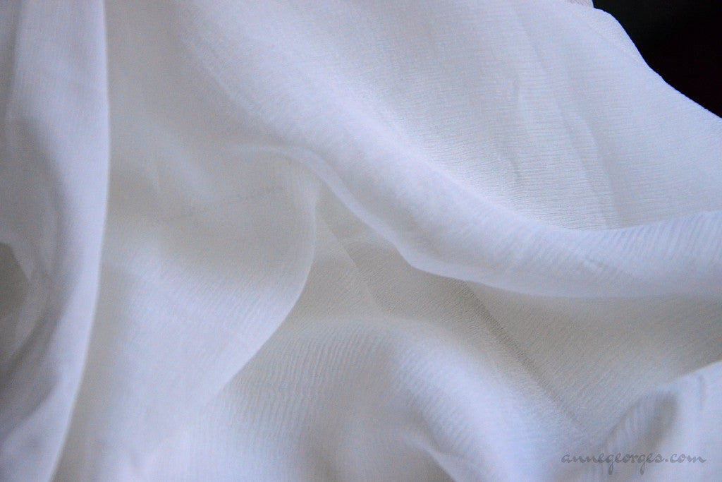 Pure Silk Chiffon Dyeable ( Natural Fabric Yardage & Bolts, Prepared for Dyeing )