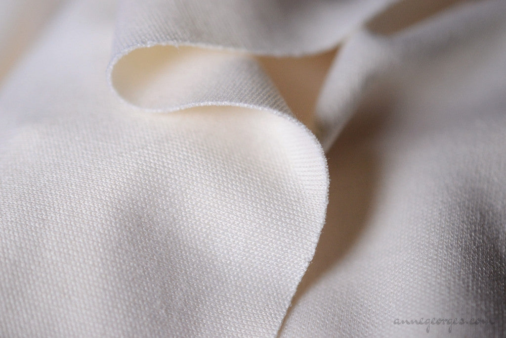 Silk Cotton Knit Jersey Dyeable 180g (Natural Fabric Yardage & Bolts, Unbleached)