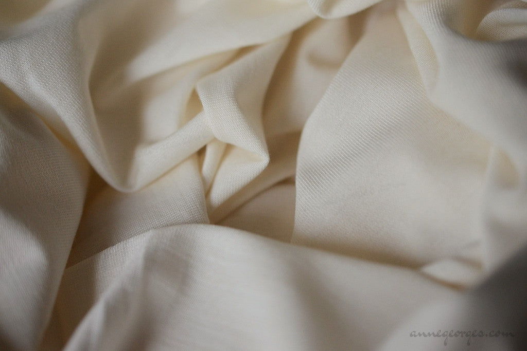 Silk Cotton Jersey Dyeable (Natural Fabric Yardage & Bolts, Unbleached)