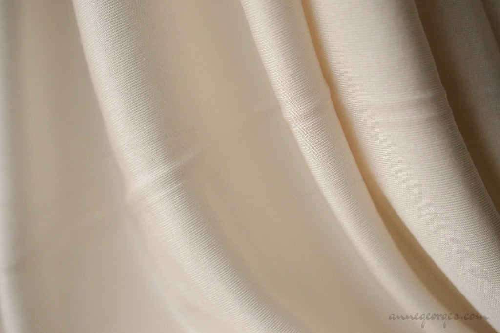 Silk Interlock Jersey 180g Dyeable (Natural Fabric Yardage & Bolts, Unbleached)
