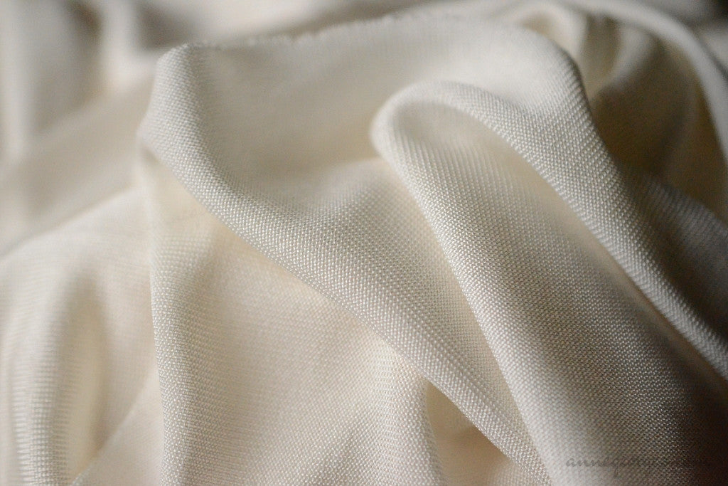 Silk Jersey Fabric ( Silk Jersey 150g, Organic Unbleached Dyeable )