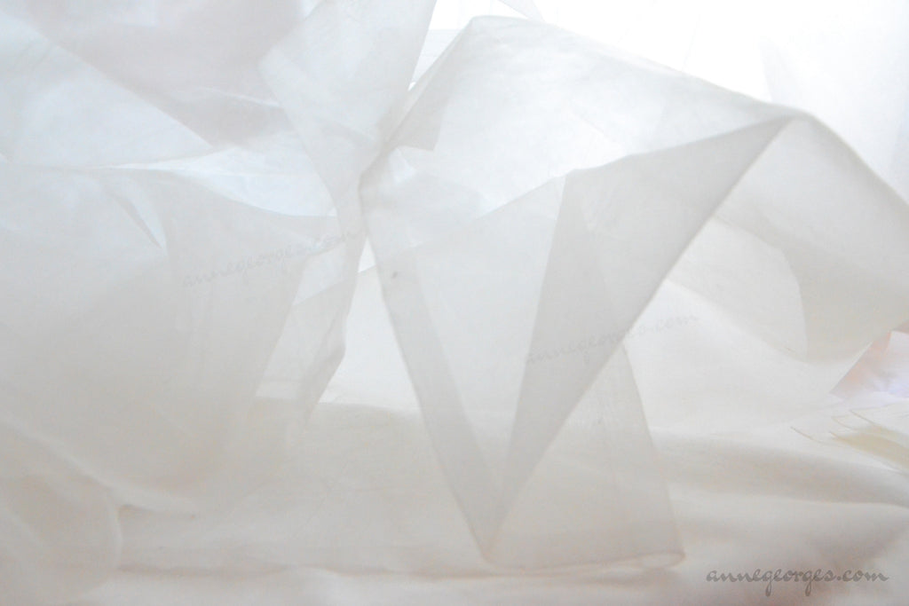 Pure Silk Organza Fabric ( Silk Organza 60g, Prepared for Dye)