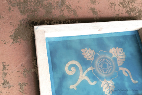 Pre-made Silk Screen for easy use. Screen Print, Fabric Print Tool. Print on fabric and paper. Florals 03