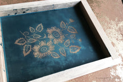 Pre-made Silk Screen for easy use. Screen Print, Fabric Print Tool. Print on fabric and paper. Florals 01