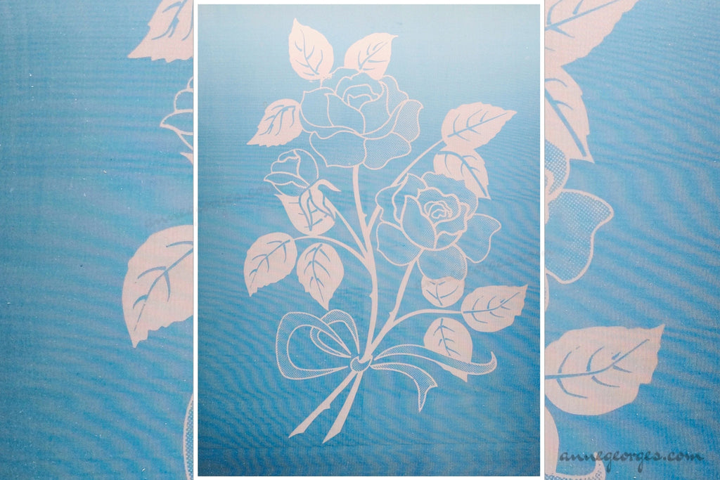 Pre-made Silk Screen for easy use. Screen Print, Fabric Print Tool. Print on fabric and paper. Florals 04