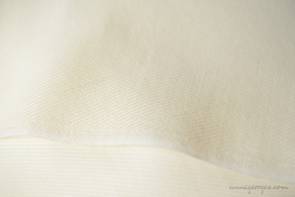 Silk + Merino Woven Twill Fabric - NATURAL BLENDS ( Silk+Merino Twill, Unbleached Dyeable )