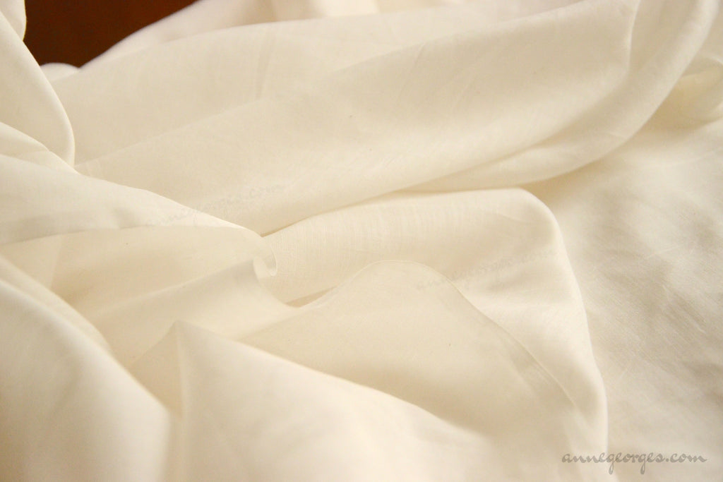 Organic Soft Silk+Cotton Fabric - NATURAL BLENDS ( Soft Silk Cotton, Unbleached Dyeable )