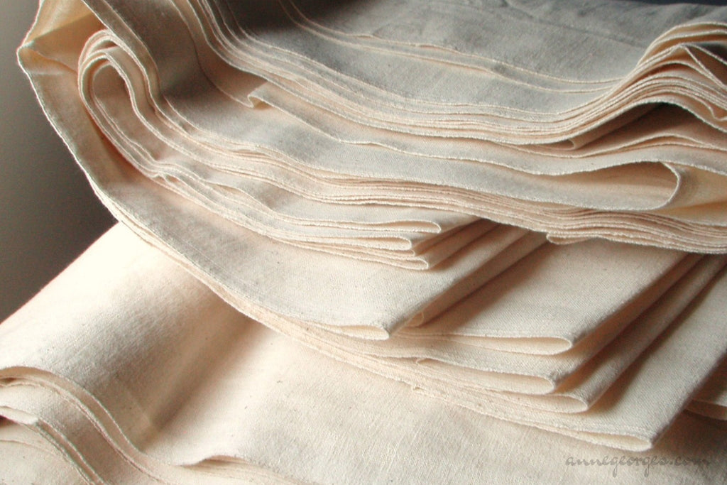 Unbleached organic cotton fabric for Tote Bags - LOOMSTATE (Tote Fabric, Unbleached Dyeable)