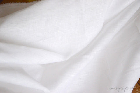 Handwoven Organic Linen Fabric ( Linen 40L, Prepared for Dye Dyeable )