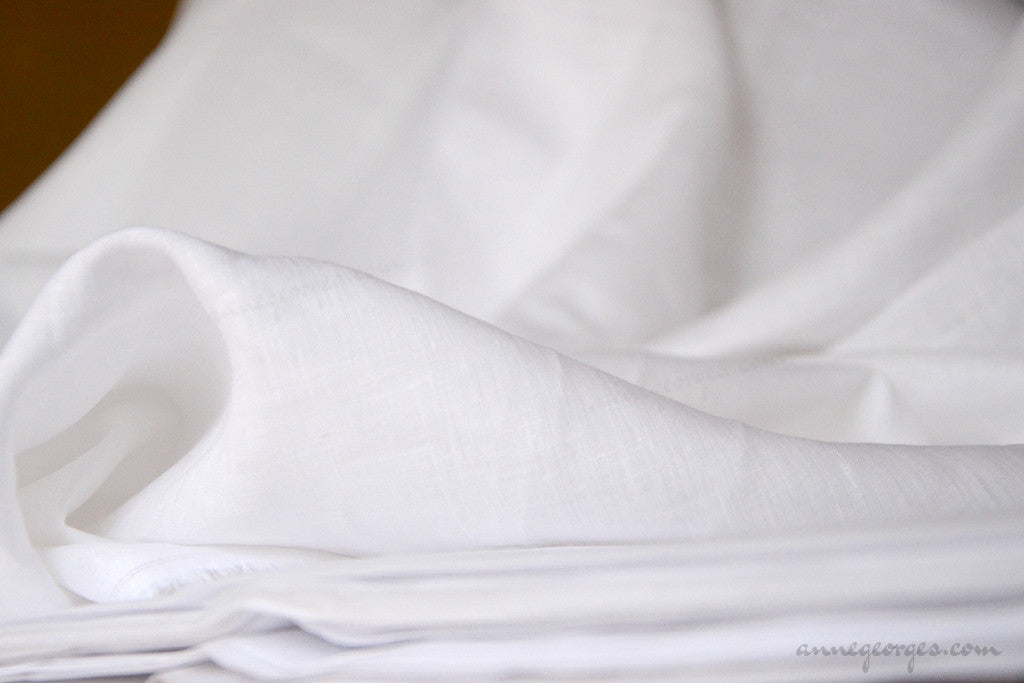 Handwoven Organic Linen Fabric ( Linen 80L, Prepared for Dye Dyeable )