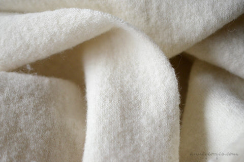 Felted Wool Knit Fabric - HIMALAYAN WOOL ( Leh Felted Knit, Unbleached Dyeable )