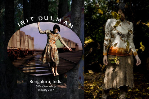 Irit Dulman 2017. Ecoprint in India - 5 Day Workshop - Jan 2017