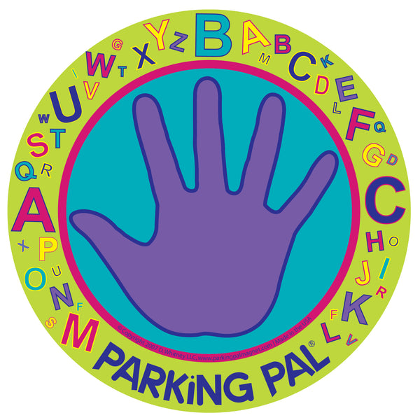 Alphabet parking pal palm car parking lot safety magnet for kids