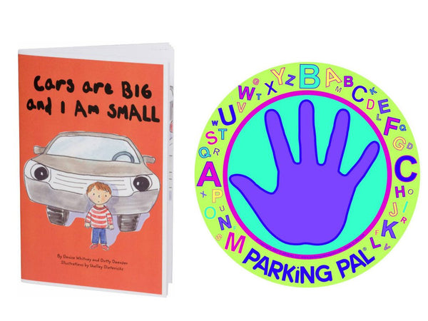 Parking pal hand car magnet alphabet design with kids safety book