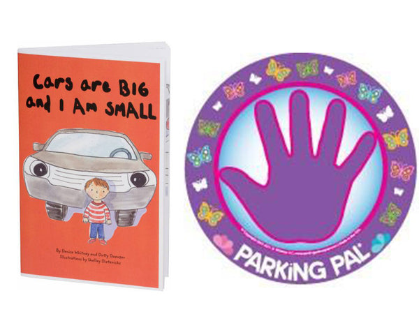 Butterfly parking pal hand print car magnet with toddler safety around cars book