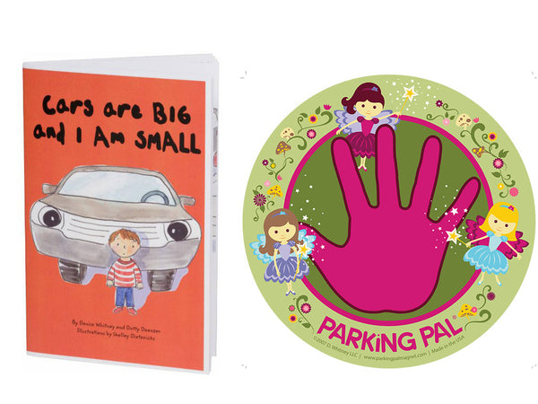 Fairy princess parking pal hand print car magnet with toddler safety around cars book