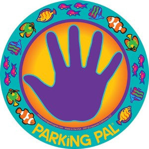 purple fish memo palm print hand magnet toddler safety
