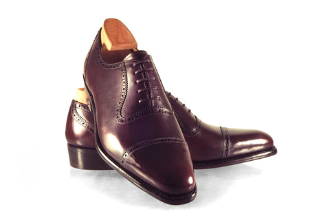 [GMTO] Outram in Oxblood Vocalou Aniline Calf