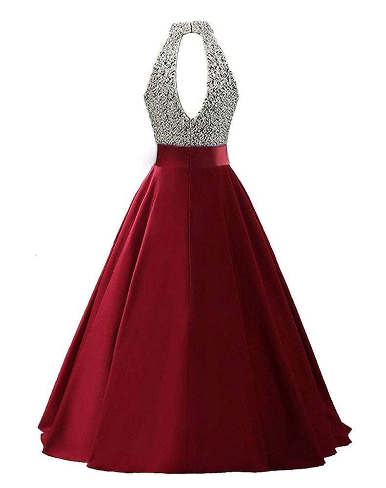 Dressytailor 2018 Halter A Line Long Sequined Evening Party Gowns Bead
