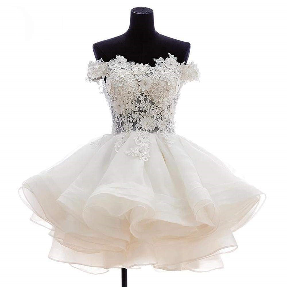4cbcd23230 Dressytailor Women's Off The Shoulder Short Organza Lace Flower Prom  Homecoming Dress Party Dresses ...