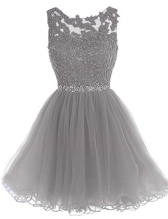 8b46afe775f Dressytailor Short Tulle Homecoming Dresses Appliques Beads Prom Party Gowns