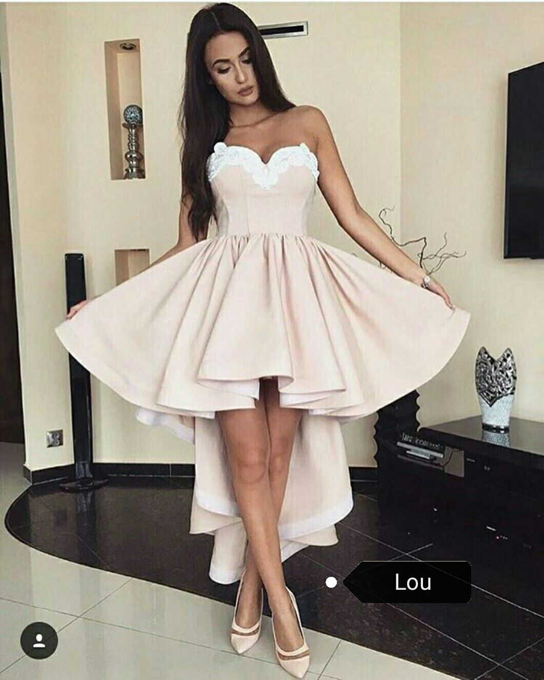 6562b6ceb3a ... High Low Sweetheart Sleeveless Champagne Satin Homecoming Dress with  Appliques ...