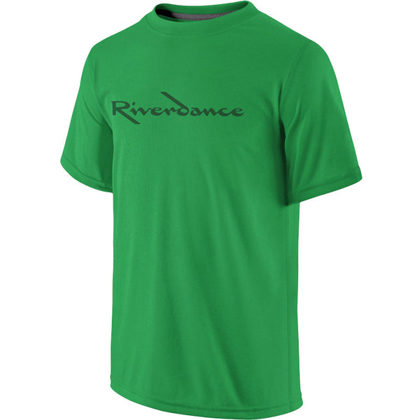 Riverdance Boys Green Title Tee