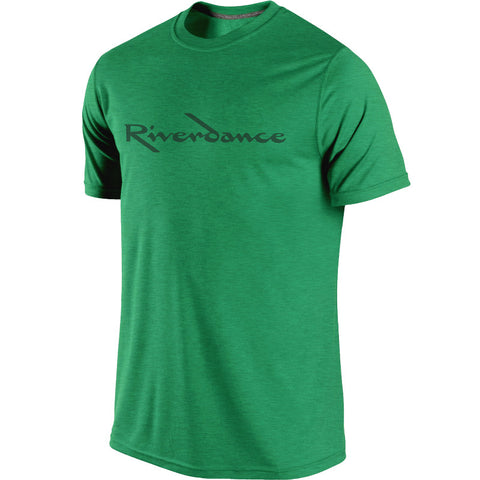 Riverdance Heather Green Title Tee