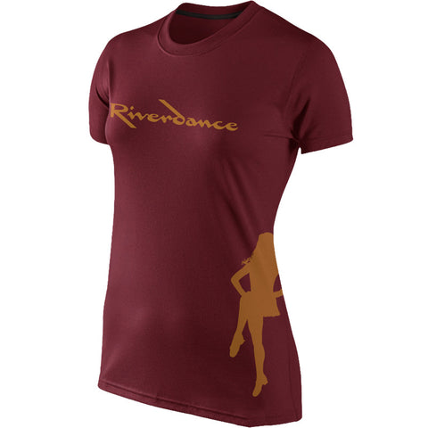Riverdance Maroon Ladies Dancer Tee
