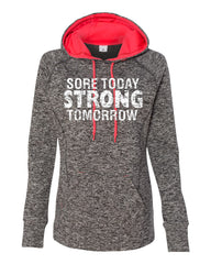 Orange Arrow Sore Today Strong Tomorrow Hoody Leg Day
