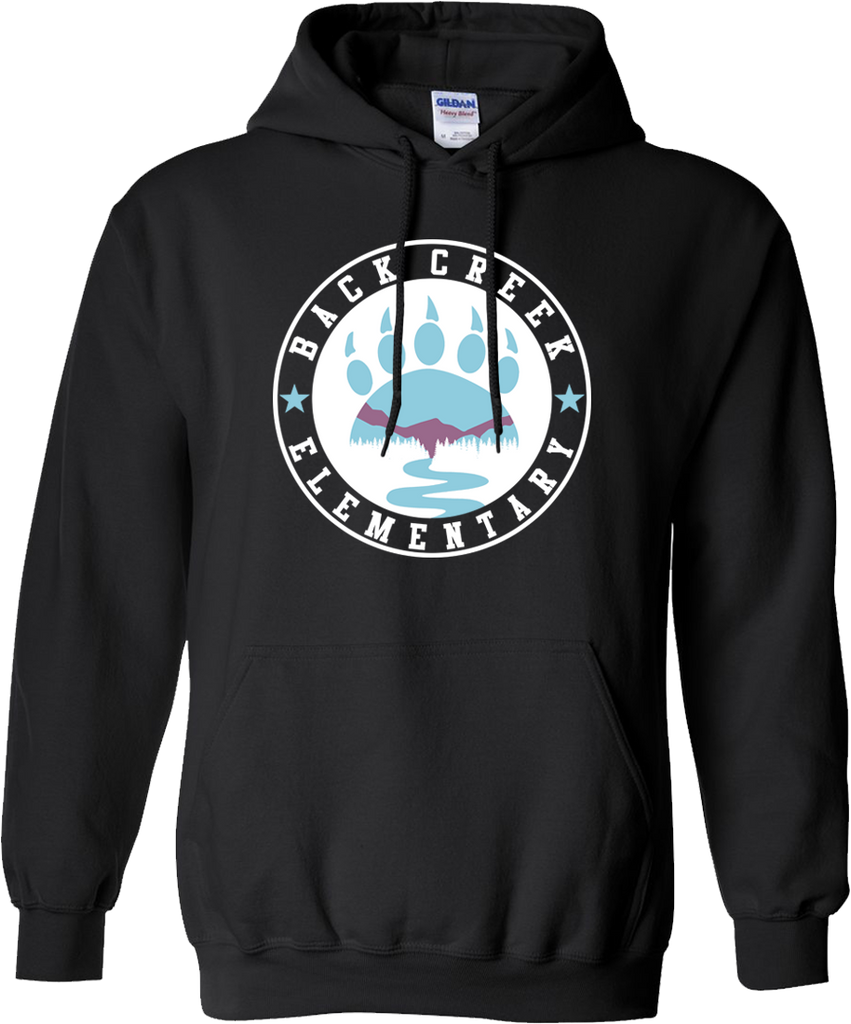 HOODED SWEATSHIRT Back Creek Circle  - BLACK