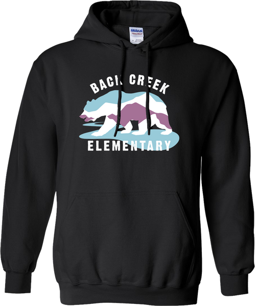 HOODED SWEATSHIRT Back Creek Classic  - BLACK
