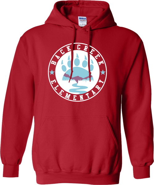 HOODED SWEATSHIRT Back Creek Circle  - RED