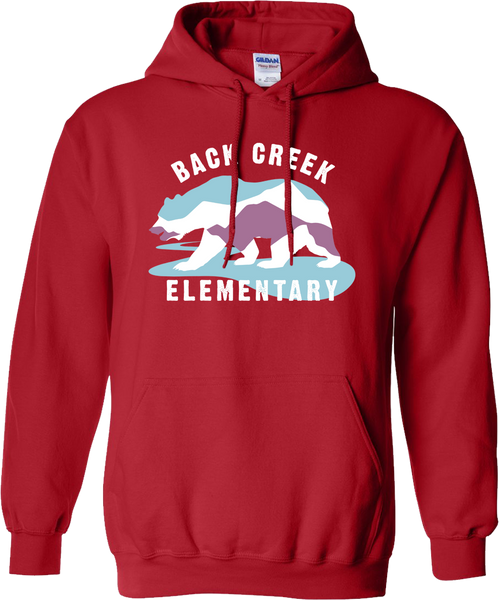 HOODED SWEATSHIRT Back Creek Classic  - RED