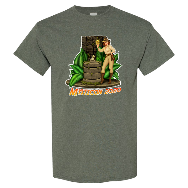 Mysticon Short Sleeve - Heather Military Green.