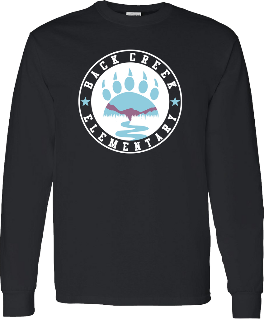 LONG SLEEVE Back Creek Circle T-Shirt - Black