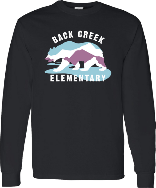 LONG SLEEVE Back Creek Classic T-Shirt - Black