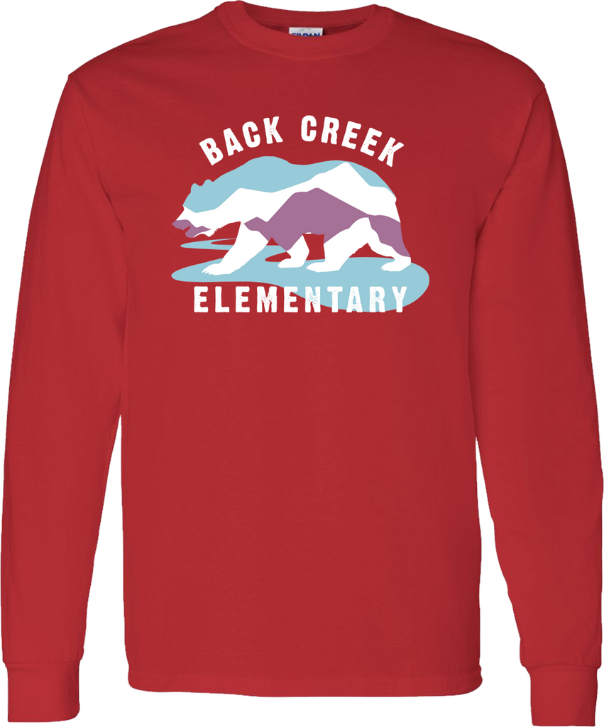 LONG SLEEVE Back Creek Classic T-Shirt - Red