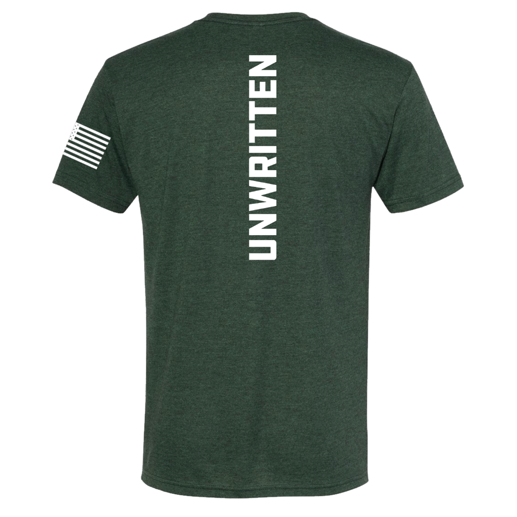Crossfit Unwritten Athlete Design- Black Forest Unisex Tee