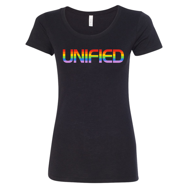 Unify Pride 2019 - Women's Tri-Blend Tee (Solid Black Tri-Blend)