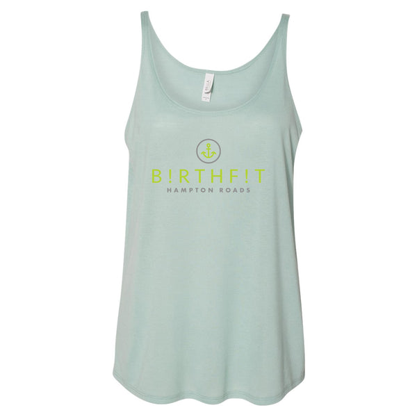 Slouchy Tank - Dusty Blue
