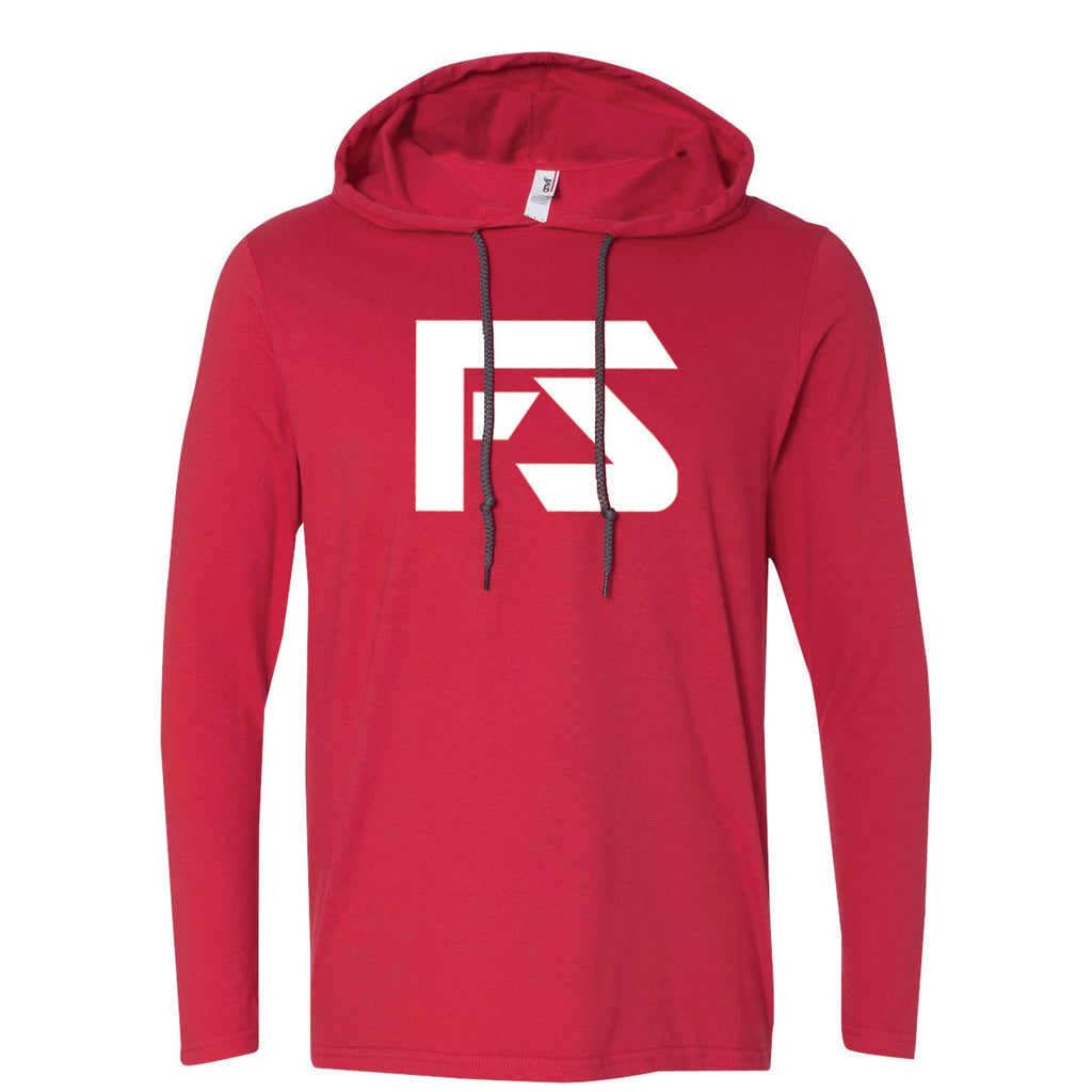 Unisex Long Sleeve Hooded T-Shirt - Red