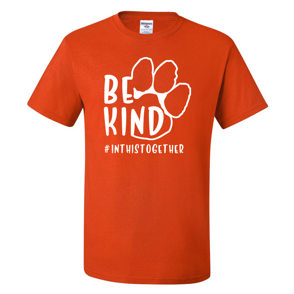 Paw Print #InThisTogether Tee - Burnt Orange