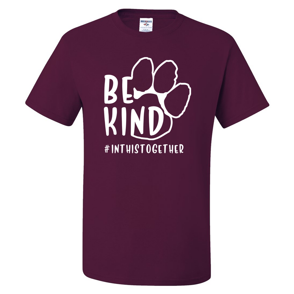 Paw Print #InThisTogether Tee - Maroon