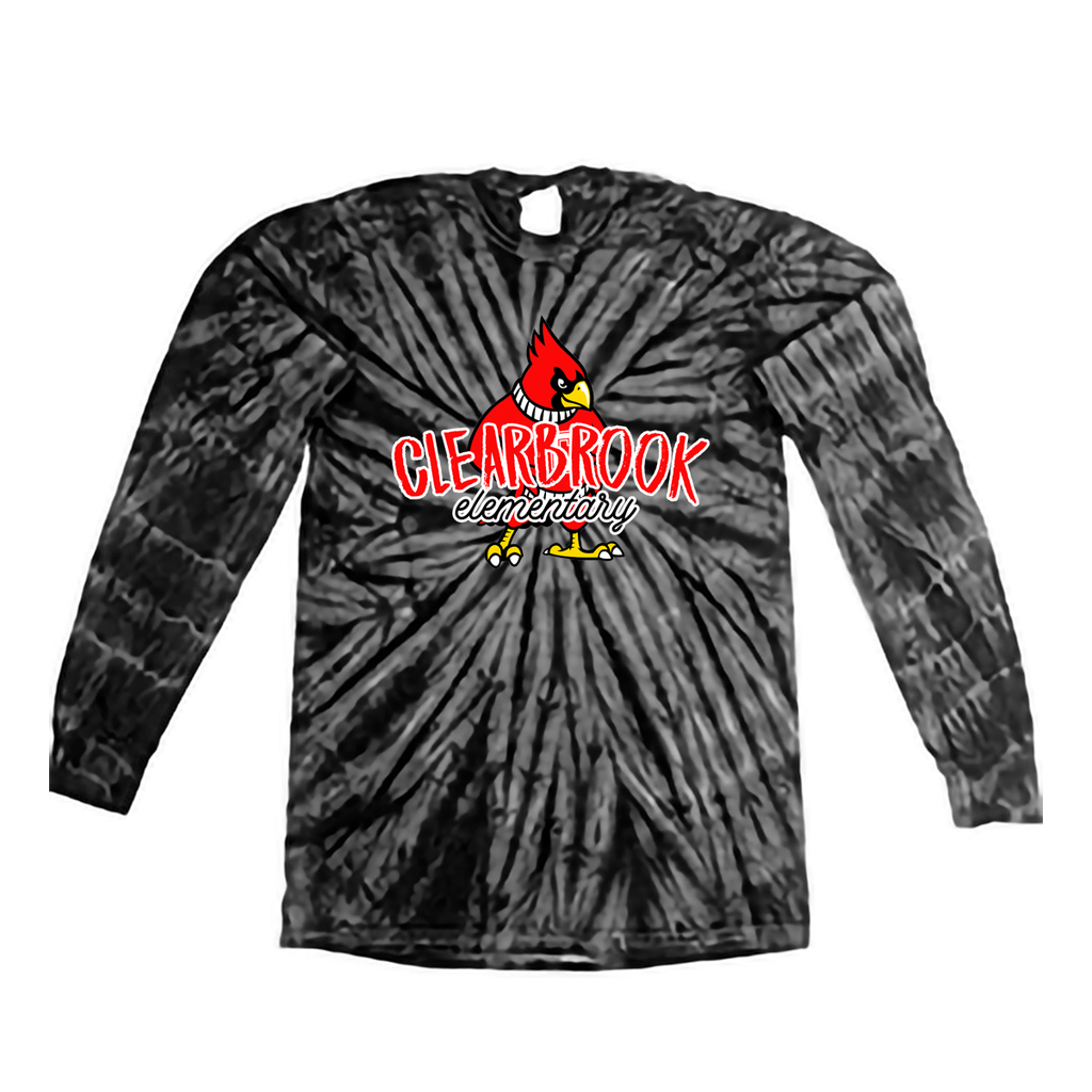 Cardinal Chalk Long-Sleeve Tie Dye Tee- Youth & Adult Sizes