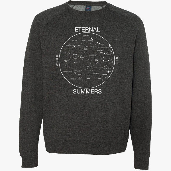 Glow in the Dark!!  Eternal Summers Crewneck - Dark Grey