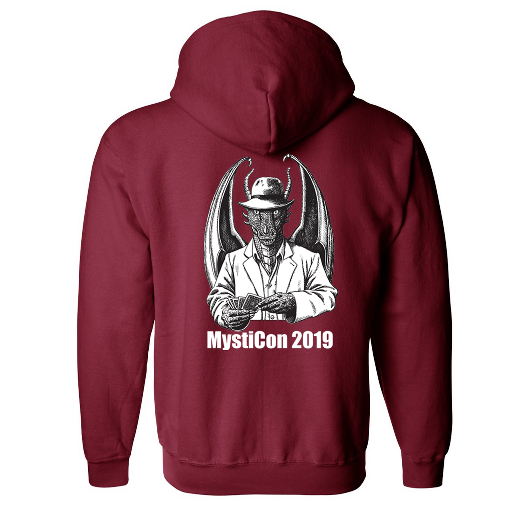 Mysticon 2019 - Full Zip Sweatshirt - Cardinal