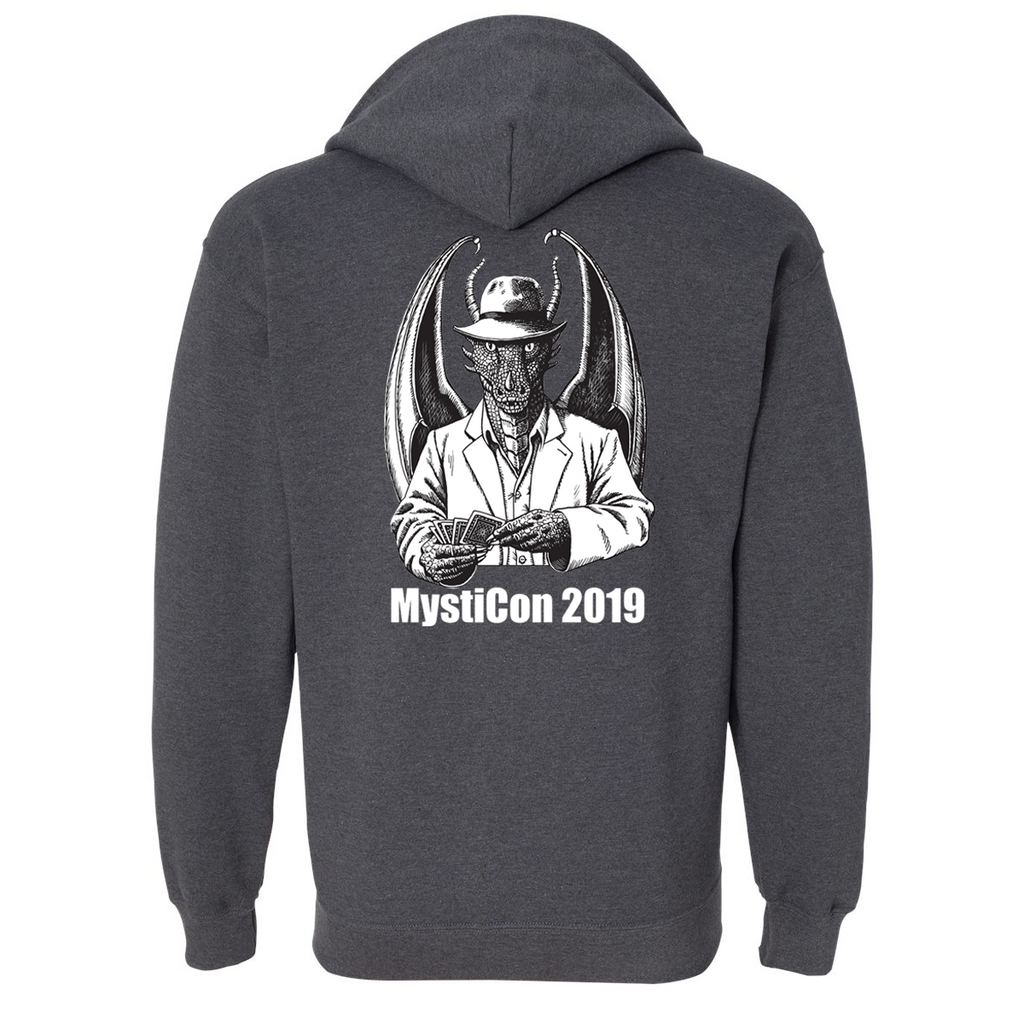 Mysticon 2019 - Full Zip Sweatshirt - Dark Heather