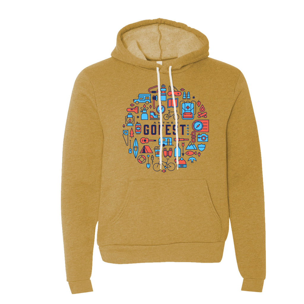 GoFest - ICON Hooded Sweatshirt (Heather Mustard)